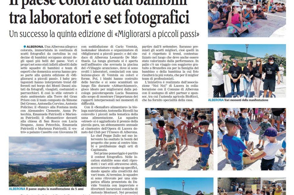 La Gazzetta del Mezzogiorno dedica ampio spazio a Mapp Alberona