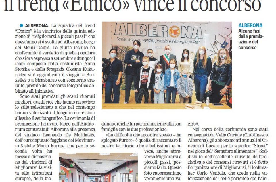 """Gazzetta del Mezzogiorno: """"Fotografare il territorio per amarlo. Il trend 'Etnico' vince il concorso"""""""